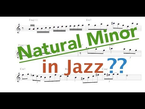 Natural Minor in Jazz