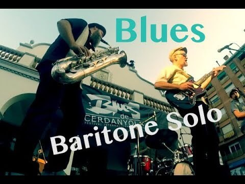 Baritone Saxophone solo Blues in F
