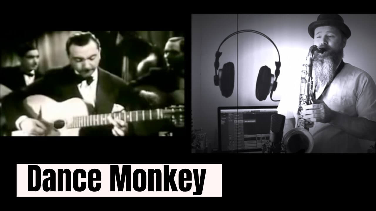 Dance Monkey (Tones and I) Saxophone cover feat. Django Reinhardt.